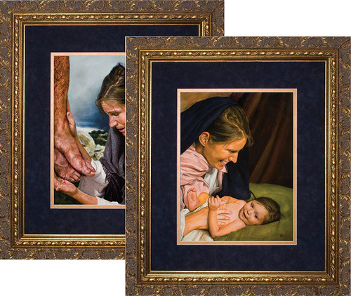 Passion of Mary (Set of 2) by Jason Jenicke Matted - Ornate Gold Framed Arts