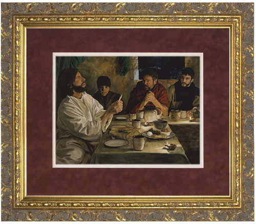 Institution of the Eucharist by Jason Jenicke Matted - Ornate Gold Framed Art