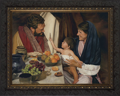 The Holy Family by Jason Jenicke - Ornate Dark Framed Art
