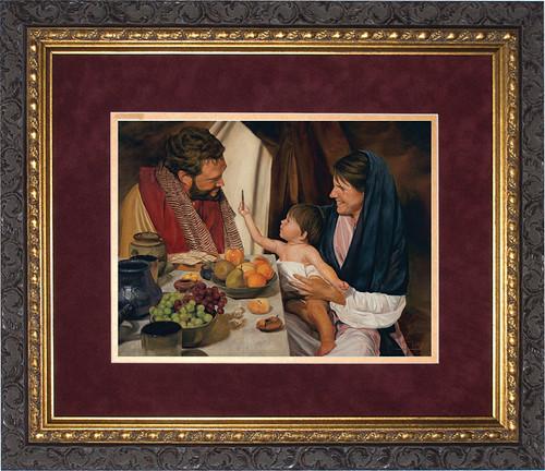 The Holy Family by Jason Jenicke Matted - Ornate Dark Framed Art