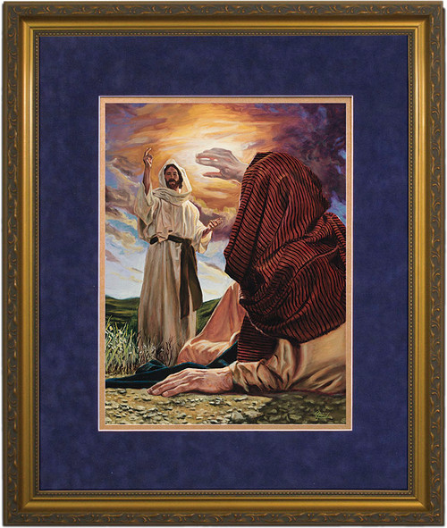 Conversion of St. Paul by Jason Jenicke Matted - Standard Gold Framed Art