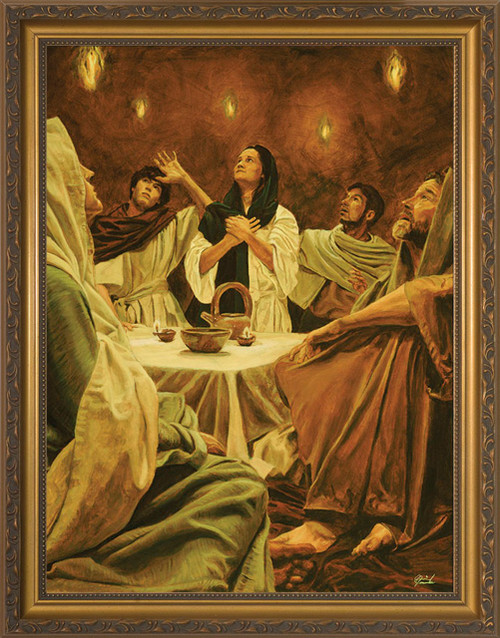 Descent of the Holy Spirit by Jason Jenicke - Standard Gold Framed Art