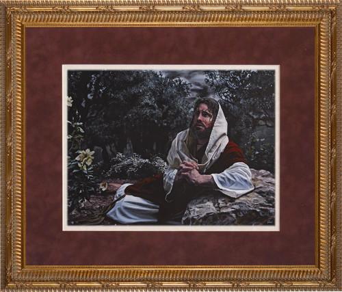 Agony in the Garden by Jason Jenicke Matted - Ornate Gold Framed Art