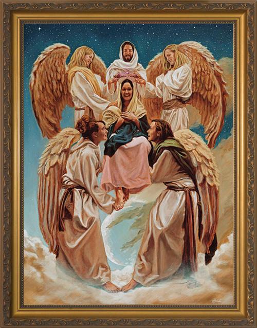 Coronation of Mary by Jason Jenicke - Standard Gold Framed Art