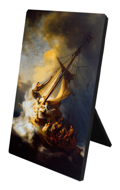 Storm on the Sea of Galilee Vertical Desk Plaque