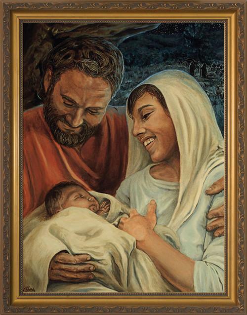 Nativity by Jason Jenicke - Standard Gold Framed Art