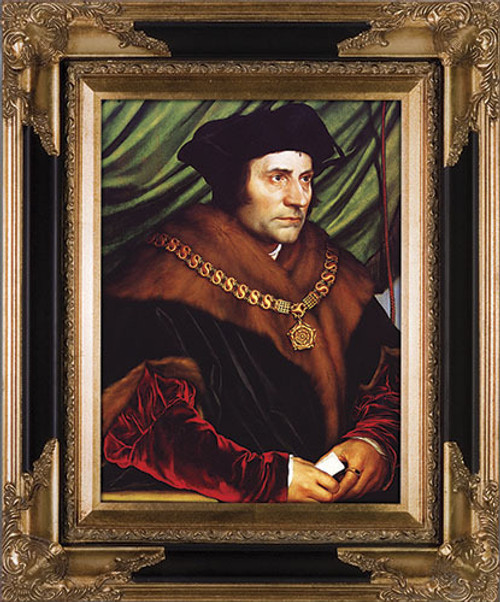 St. Thomas More - Black and Gold Museum Framed Canvas