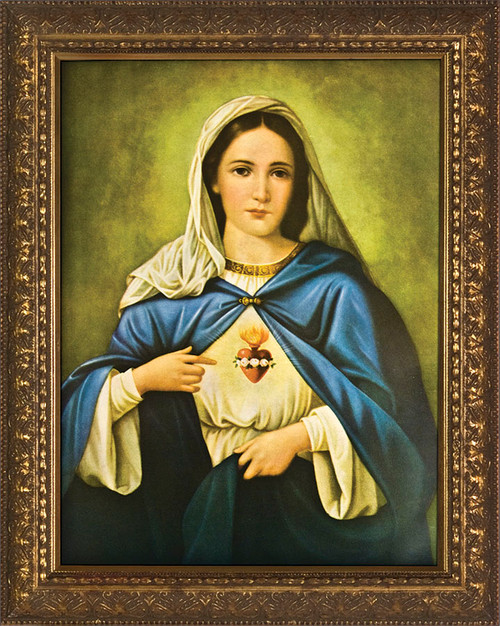 Immaculate Heart - Gold Framed Art