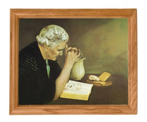 Gratitude - Oak Framed Art