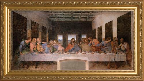 Last Supper by Da Vinci - Standard Gold Framed Canvas
