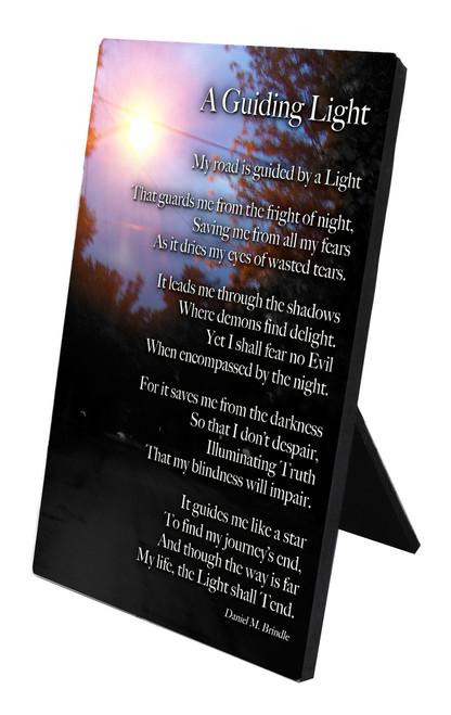 A Guiding Light Vertical Desk Plaque