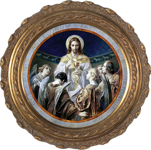 Christ, Bread of Angels - Round Framed Canvas