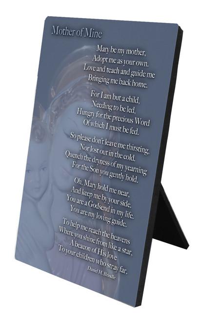 Mother of Mine Vertical Desk Plaque