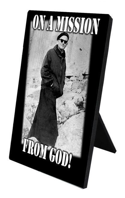 Mission From God (JPII) Vertical Desk Plaque