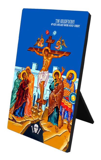 The Crucifixion Vertical Desk Plaque