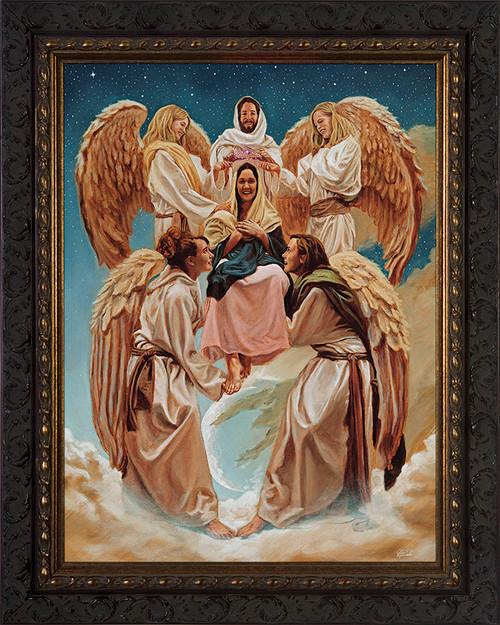 Coronation of Mary by Jason Jenicke - Ornate Dark Framed Art