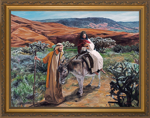 Flight Into Egypt by Jason Jenicke - Standard Gold Framed Art