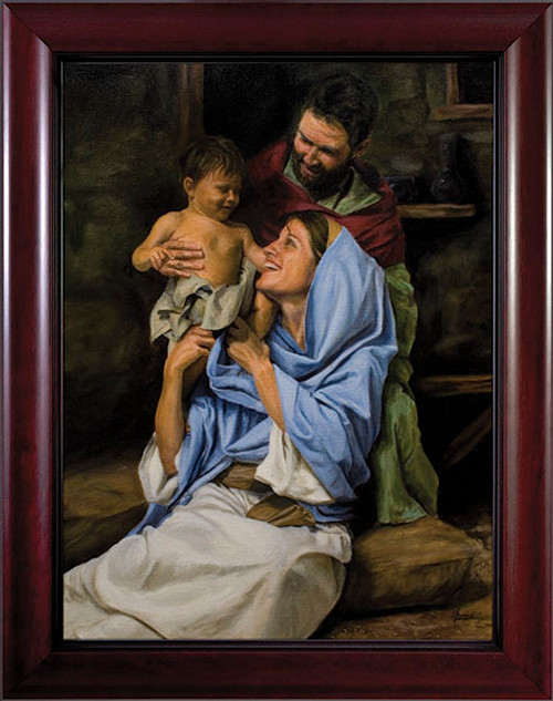 Holy Family II by Jason Jenicke Cherry Framed Art