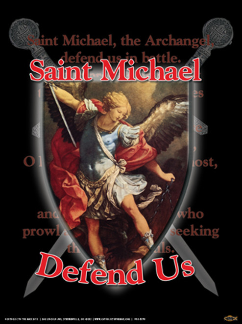St. Michael Defend Us Poster
