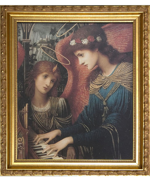 St. Cecilia by Strudwick - Gold Framed Art