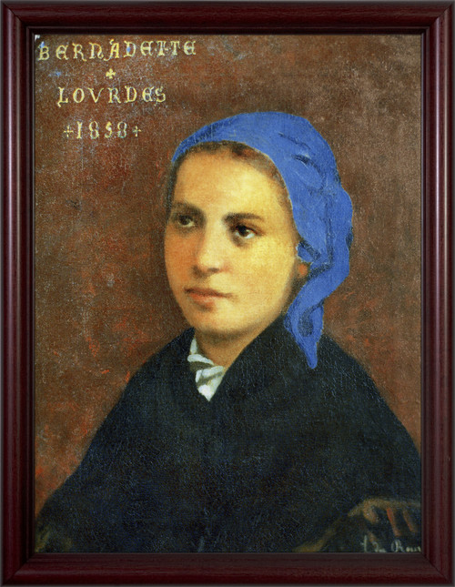 St. Bernadette - Cherry Framed Art