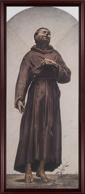 St. Francis of Assisi - Cherry Framed Art
