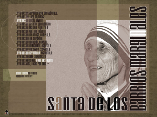 Spanish Mother Teresa Poster