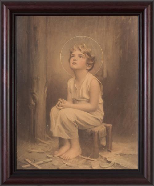 Antique Christ Child (With Cross) Framed Art