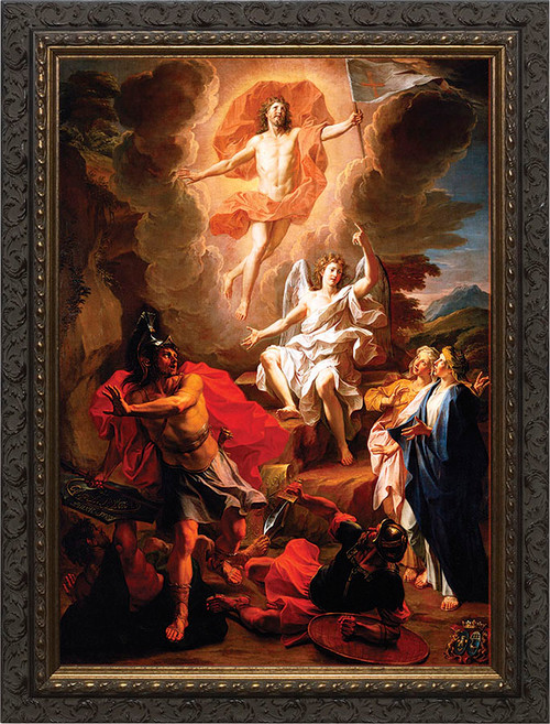 Resurrection of Christ by Coypel - Ornate Dark Framed Art