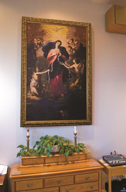 Mary Undoer of Knots Church- Sized Framed Canvas