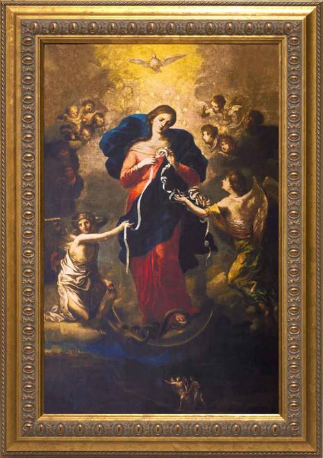 Mary Undoer of Knots Framed Art: Ornate Gold Frame