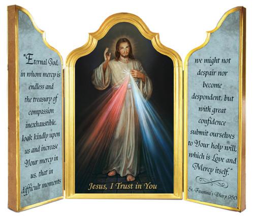 Divine Mercy Triptych Plaque