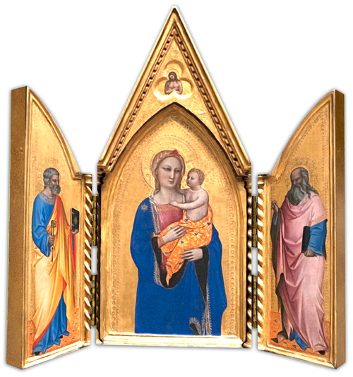 Madonna with Sts. Peter and John Triptych Plaque