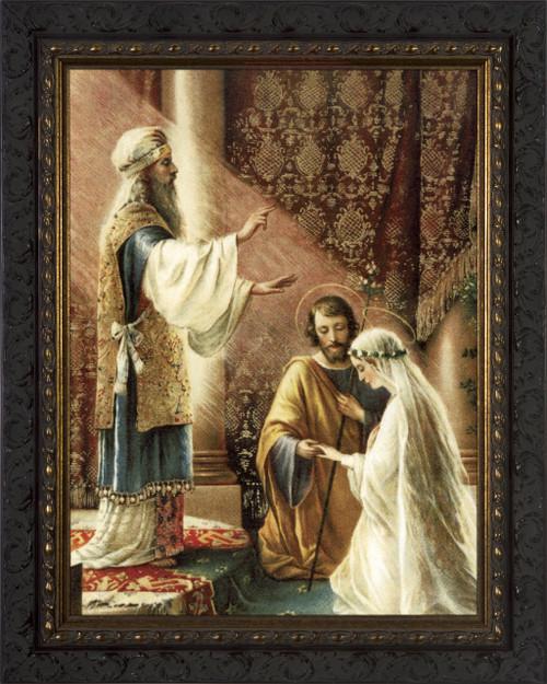 Wedding of Joseph & Mary - Ornate Dark Frame