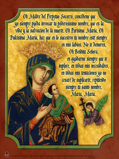 Spanish Our Lady of Perpetual Help Poster