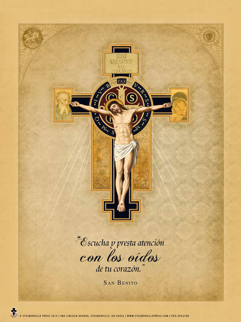 Spanish Benedictine Cross Poster