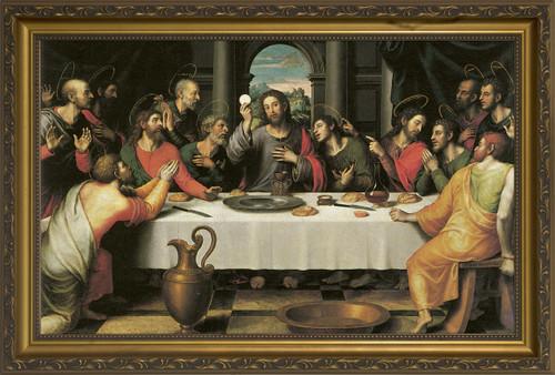 The Last Supper by Juan de Juanes - Standard Gold Framed Art