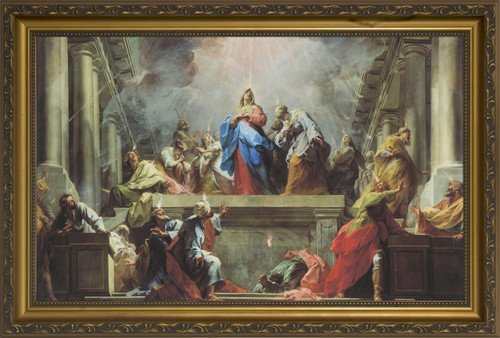 Pentecost by Jean II Restout Framed Art