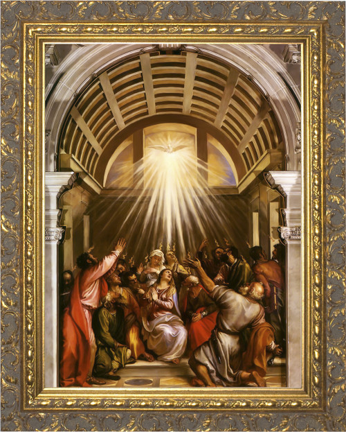 Pentecost by Titian - Ornate Gold Framed Art