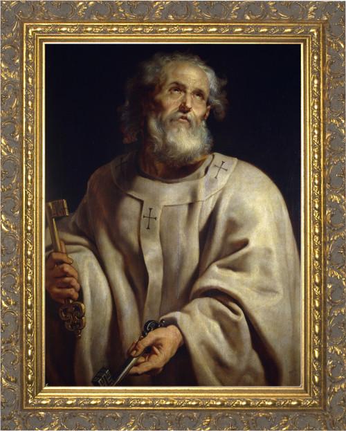 St. Peter - Ornate Gold Framed Art