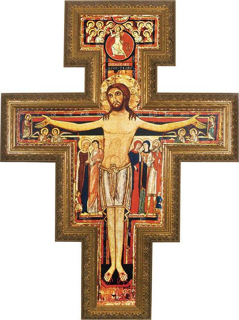 San Damiano Framed Canvas Cross