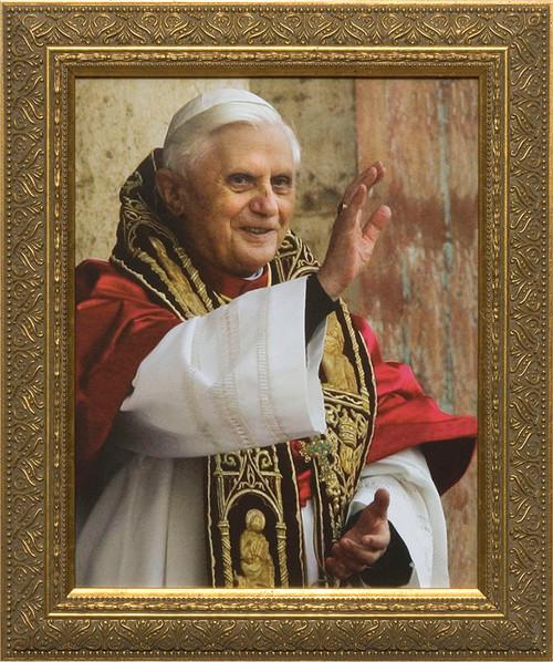 Pope Benedict in Blessing Framed Art