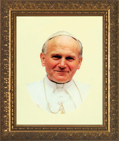 Pope John Paul II Smiling Framed Art