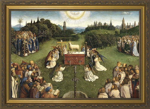 Altar of the Lamb Church-Sized Framed Canvas
