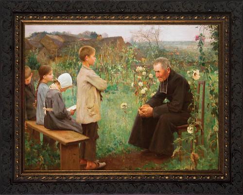 Catechism Lesson Framed Art