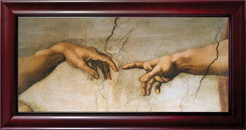 Creation of Adam by Michelangelo Detail Framed Art