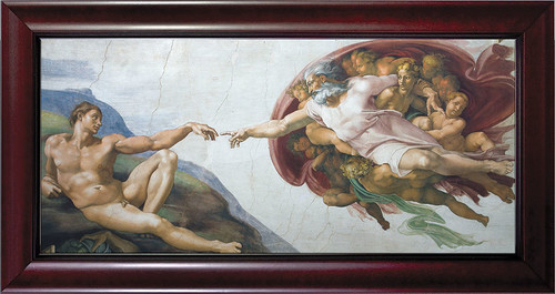 The Creation of Adam Framed Art