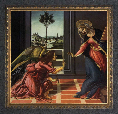Annunciation by Botticelli Framed Art