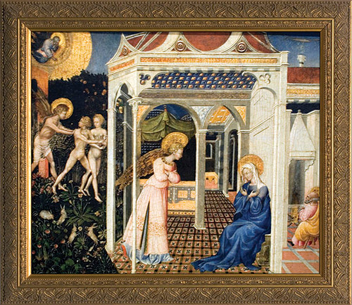 Annunciation by Giovanni di Paolo Framed Art