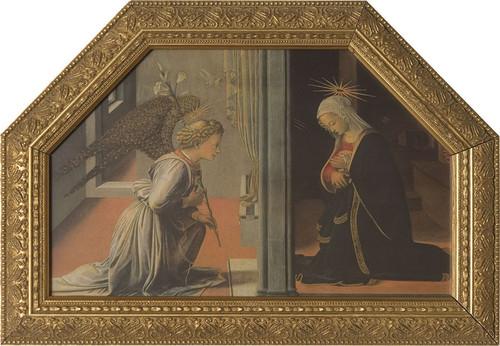 Annunciation by Lippi Framed Art
